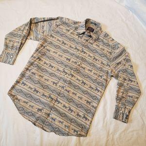 Pendleton equestrian western button down shirt